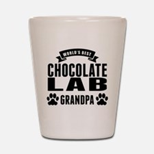Worlds Best Chocolate Lab Grandpa Shot Glass