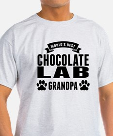 Worlds Best Chocolate Lab Grandpa T-Shirt