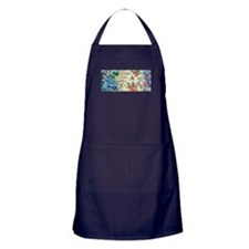 HUMMINGBIRD_STAINED_GLASS Apron (dark)