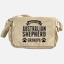 Worlds Best Australian Shepherd Grandpa Messenger