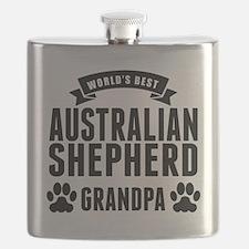 Worlds Best Australian Shepherd Grandpa Flask