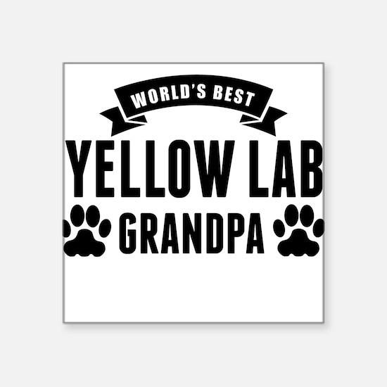 Worlds Best Yellow Lab Grandpa Sticker