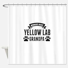 Worlds Best Yellow Lab Grandpa Shower Curtain