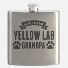 Worlds Best Yellow Lab Grandpa Flask