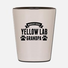 Worlds Best Yellow Lab Grandpa Shot Glass