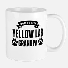 Worlds Best Yellow Lab Grandpa Mugs