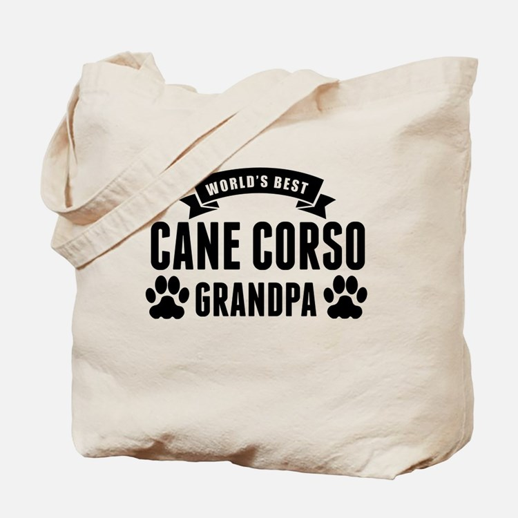 Worlds Best Cane Corso Grandpa Tote Bag