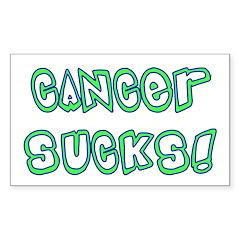 Cancer sucks! Rectangle Decal
