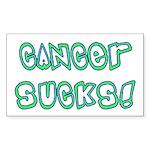 Cancer sucks! Rectangle Sticker