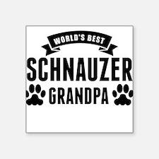 Worlds Best Schnauzer Grandpa Sticker