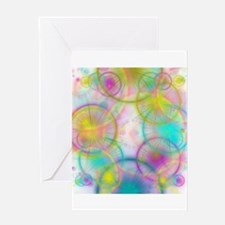 colorful circles Greeting Cards