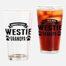Worlds Best Westie Grandpa Drinking Glass