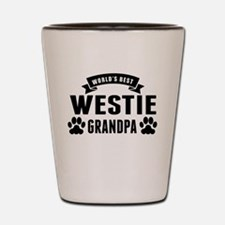 Worlds Best Westie Grandpa Shot Glass