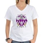 Esteves Family Crest Women's V-Neck T-Shirt