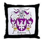 Esteves Family Crest Throw Pillow