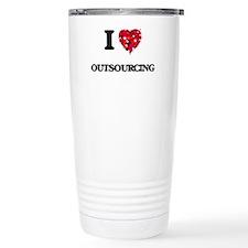 I Love Outsourcing Travel Mug