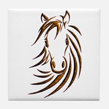 Brown Horse Head Tile Coaster