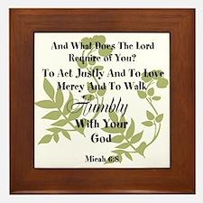 Micah 6:8 Walk Humbly with God Framed Tile