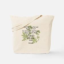 Micah 6:8 Walk Humbly with God Tote Bag