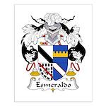 Esmeraldo Family Crest Small Poster