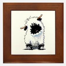 Valais Blacknose Sheep Framed Tile