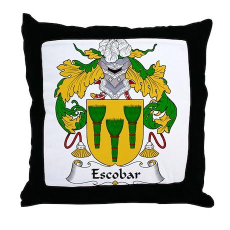 Escobar Family Crest Throw Pillow