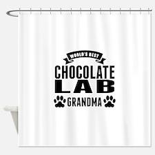 Worlds Best Chocolate Lab Grandma Shower Curtain