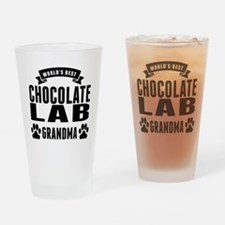 Worlds Best Chocolate Lab Grandma Drinking Glass