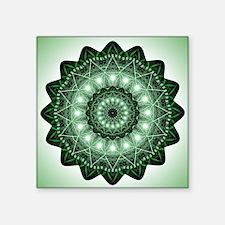 """Cute Yoga heart chakra Square Sticker 3"""" x 3"""""""