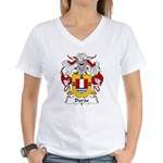 Durao Family Crest Women's V-Neck T-Shirt