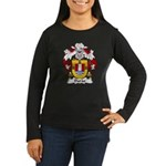Durao Family Crest Women's Long Sleeve Dark T-Shir