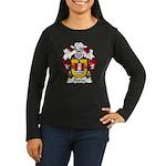 Durao Family Crest Women's Long Sleeve Dark T-Shir