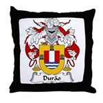 Durao Family Crest Throw Pillow
