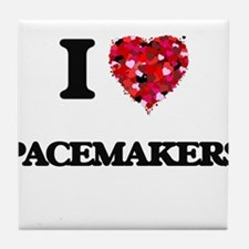I Love Pacemakers Tile Coaster