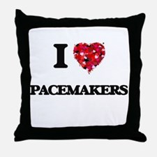 I Love Pacemakers Throw Pillow