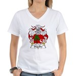 Dogaldo Family Crest Women's V-Neck T-Shirt