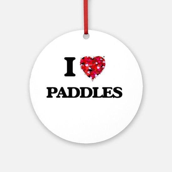 I Love Paddles Ornament (Round)