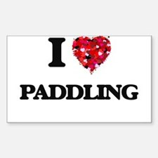 I Love Paddling Decal