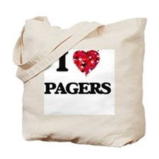 I Love Pagers Tote Bag