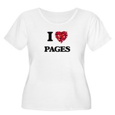 I Love Pages Plus Size T-Shirt