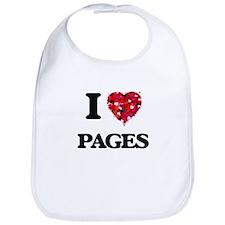 I Love Pages Bib
