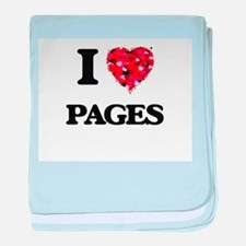 I Love Pages baby blanket