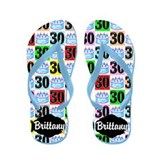 30th birthday Flip Flops