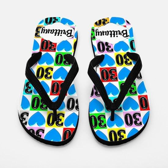 30th Sweetheart Flip Flops