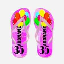 35th Pink Party Flip Flops