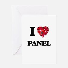 I Love Panel Greeting Cards