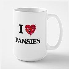 I Love Pansies Mugs