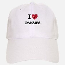 I Love Pansies Baseball Baseball Cap
