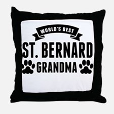 Worlds Best St. Bernard Grandma Throw Pillow