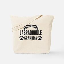 Worlds Best Labradoodle Grandma Tote Bag